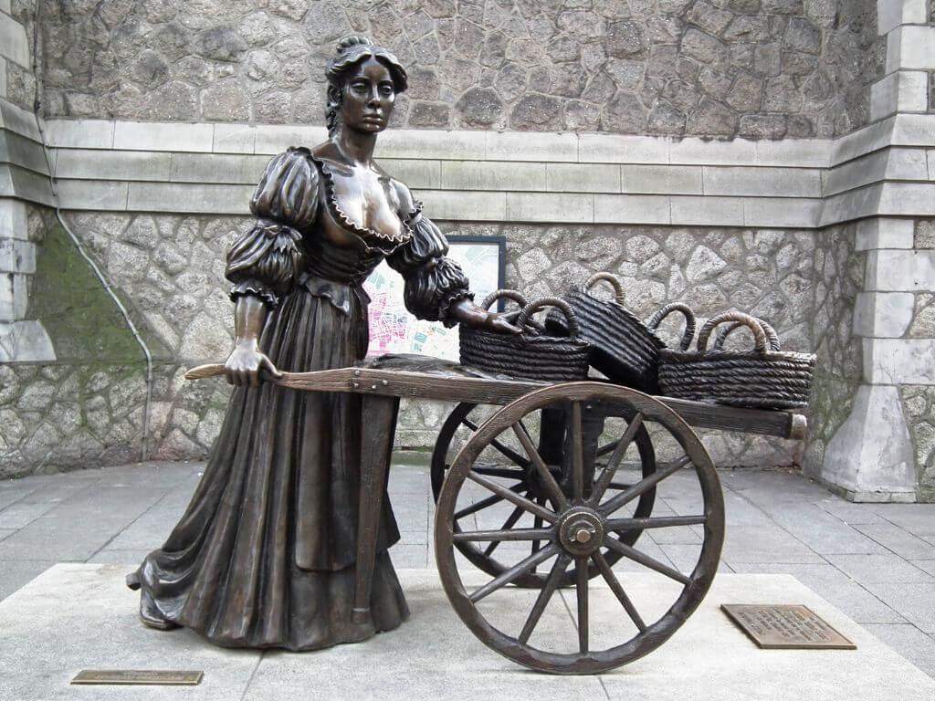 The Molly Malone statue in Dublin city centre