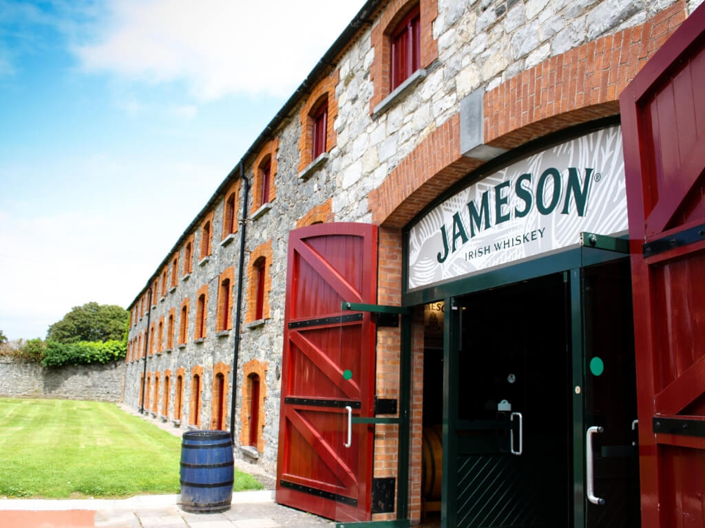 A picture of the entrance to the Jameson Experience at the Midleton Distillery