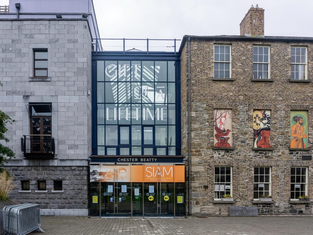 A picture of the exterior of the Chester Beatty Library in dublin Castle, one of Dublin's best free museums
