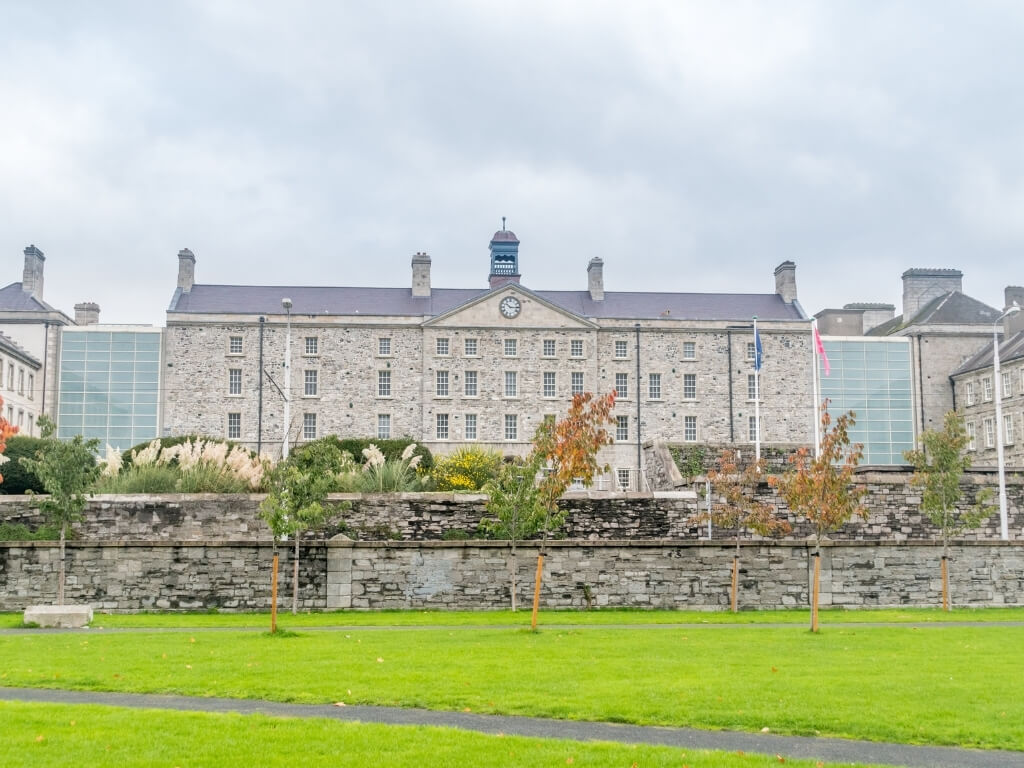 A picture of the exterior of the National Museum of Ireland, Decorative Arts and History branch at Collins Barracks