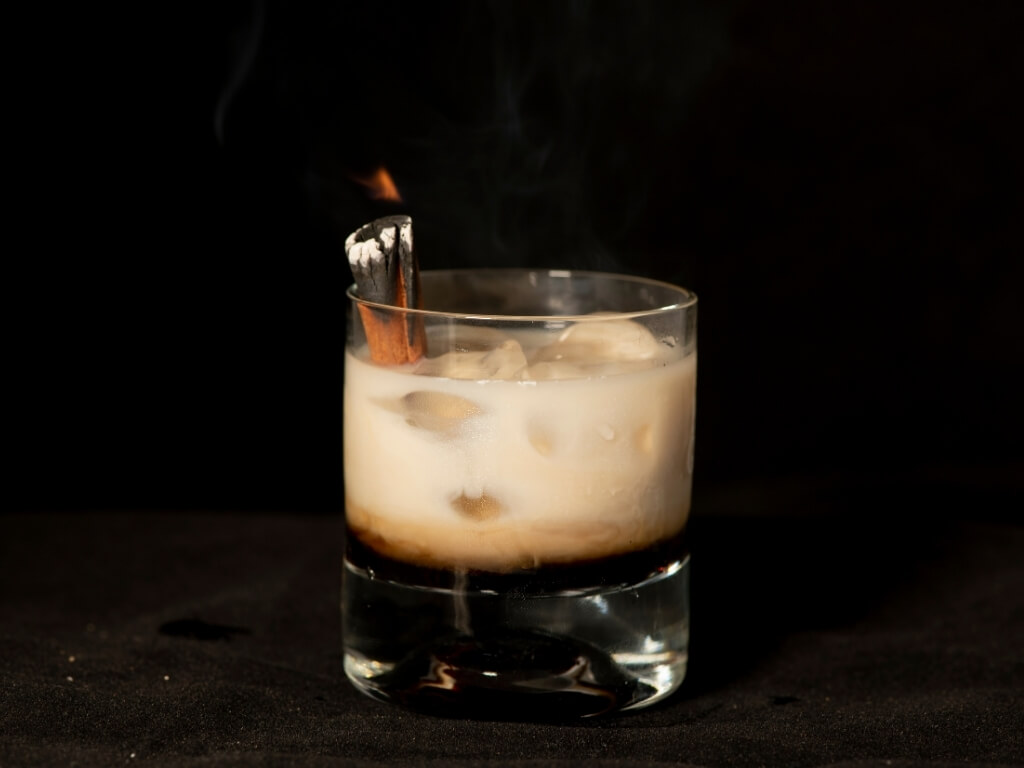 A picture of a glass of Bailey's Irish Cream Liqueur with ice