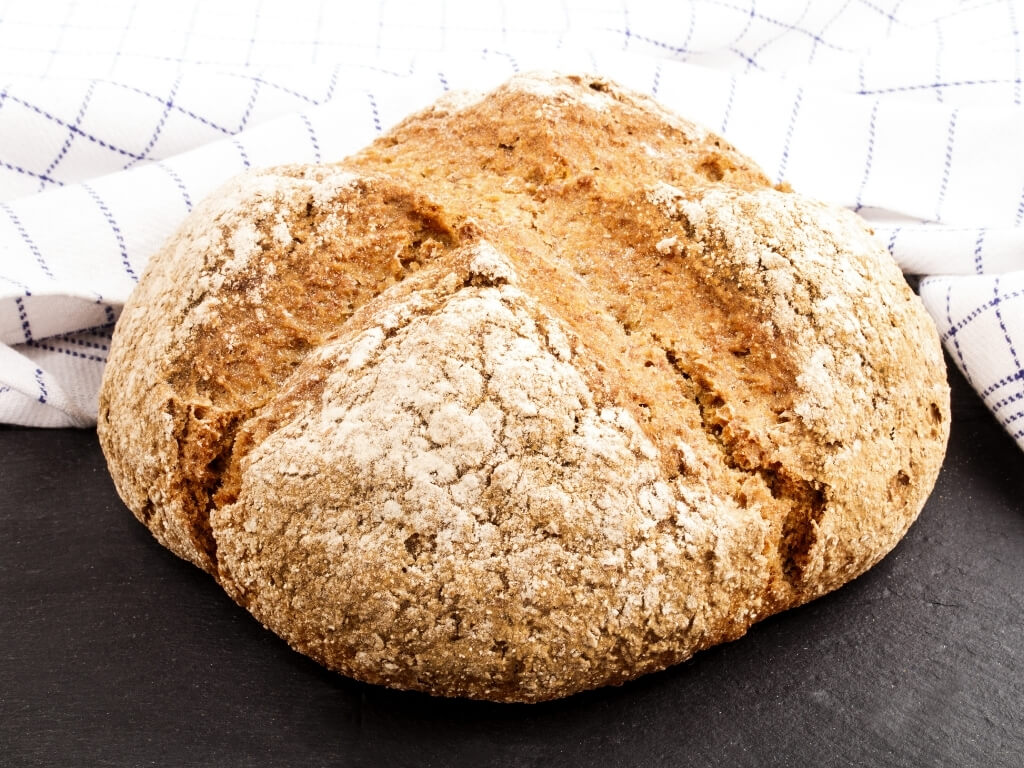 A picture of a loaf of Irish soda bread