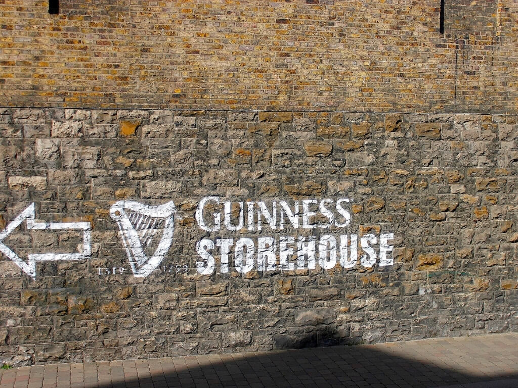 A picture of the Guinness Storehouse sign