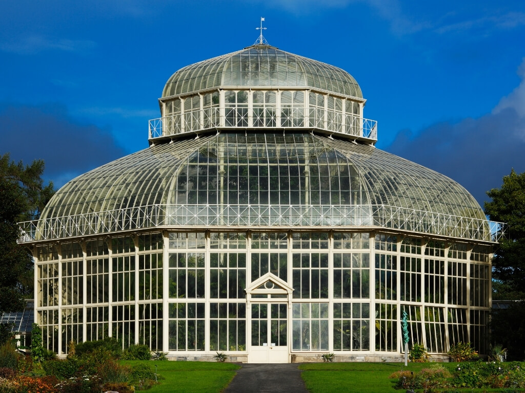 A picture of one of the glasshouses at the National Botanic Gardens, Dublin