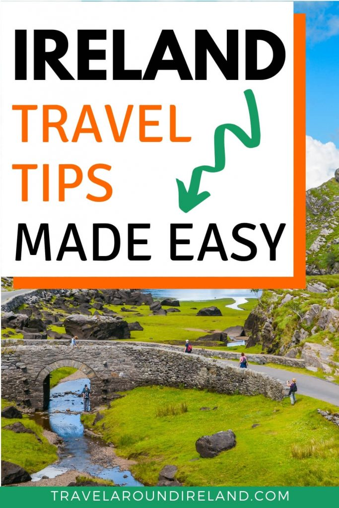 A picture of the Gap of Dunloe in County Kerry with a text box overlay saying Ireland Travel tips made easy