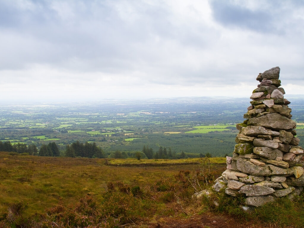 A picture of a rock tower on the Slieve Bloom Mountains in County Laois, Ireland