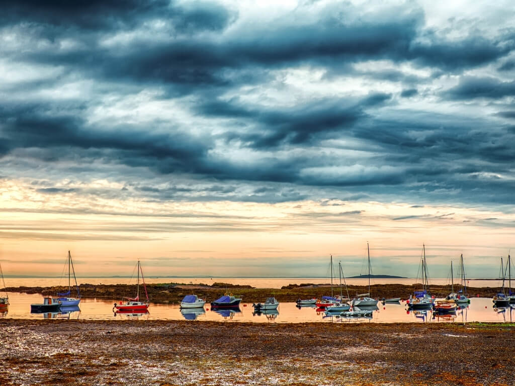 A picture of the yachts in the inlet at Bangor, County Down, Northern Ireland