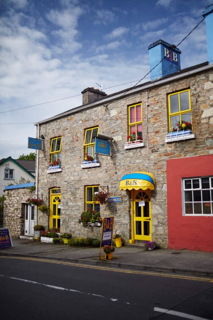 A colourfully decorated pub in Clifden, County Galway