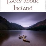 """A picture of a lake in Ireland at night with driftwood on the shore with text above the picture saying """"interesting facts about Ireland"""""""