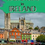 """A picture of Cobh in Cork with text overlay """"Prettiest and Best Coastal Towns in Ireland"""""""
