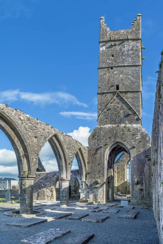 A picture of the ruins of Claregalway Friary