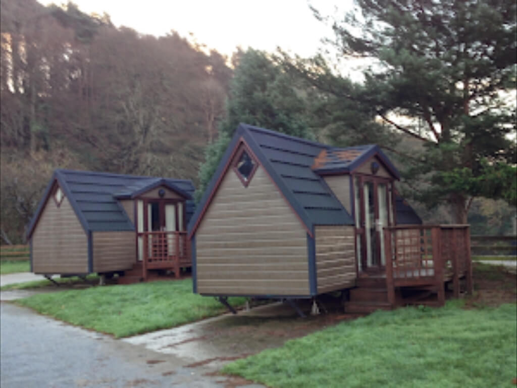 A picture of some of the glamping accommodation at Hidden Valley Holiday Park
