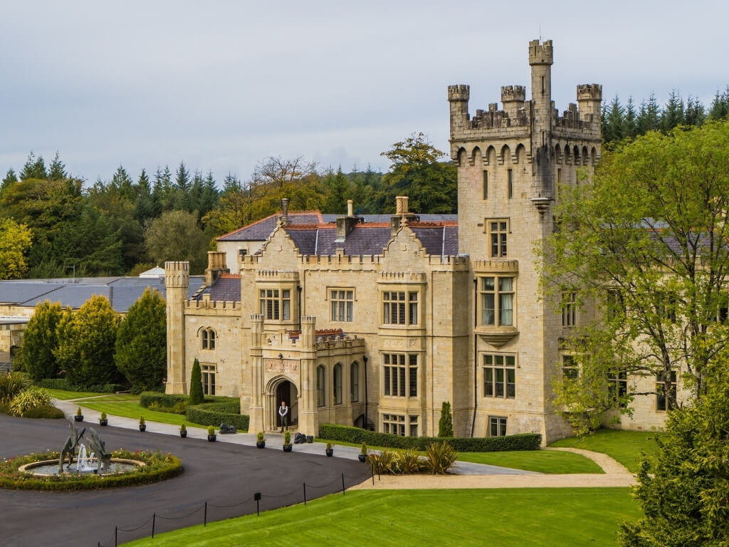 A picture of the exterior of Lough Eske Castle, one of the best castle hotels in Ireland