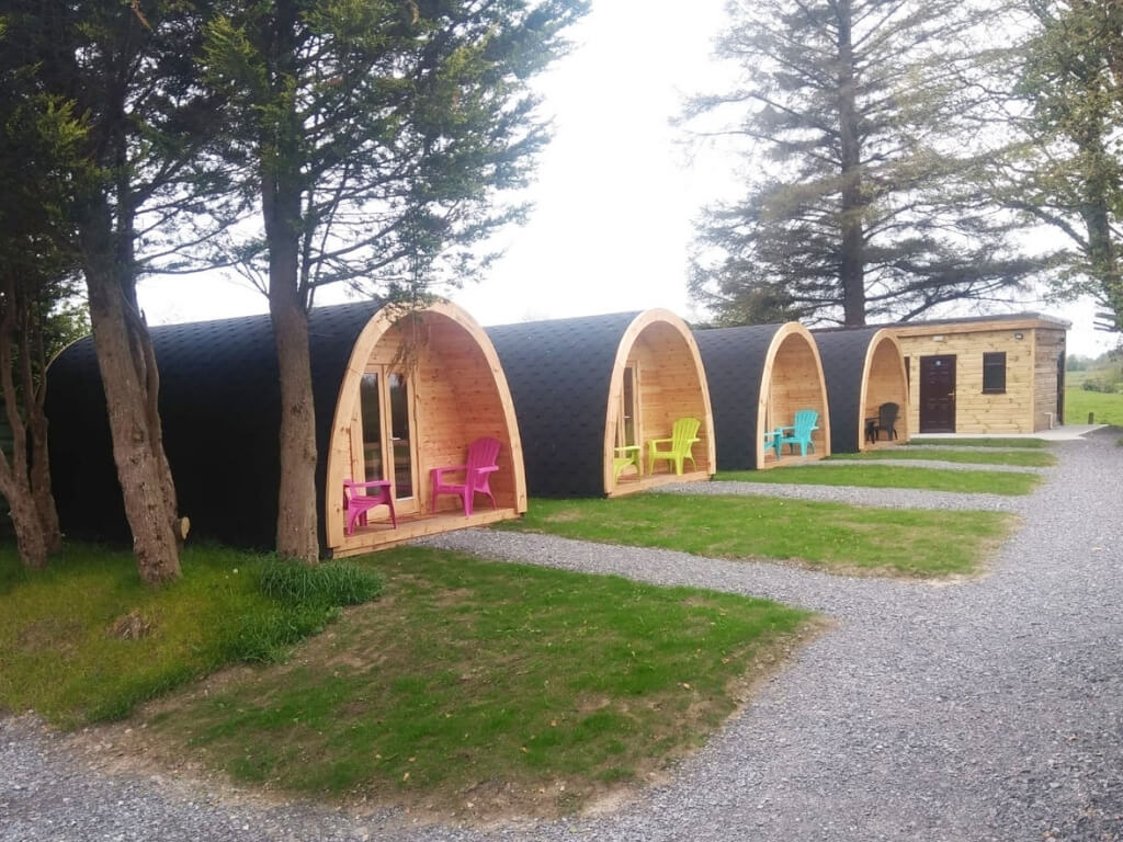 A picture of the glamping pods at Glamping Party Mayo