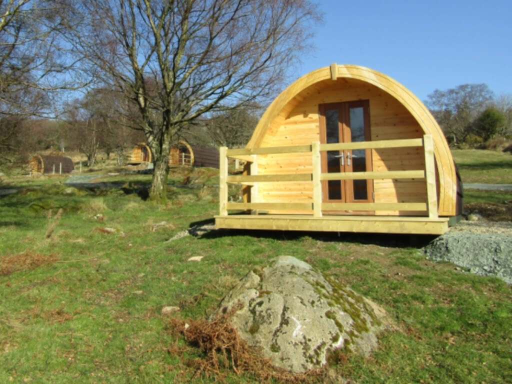 A picture of some of the glamping pods at Glendalough Glamping in Wicklow
