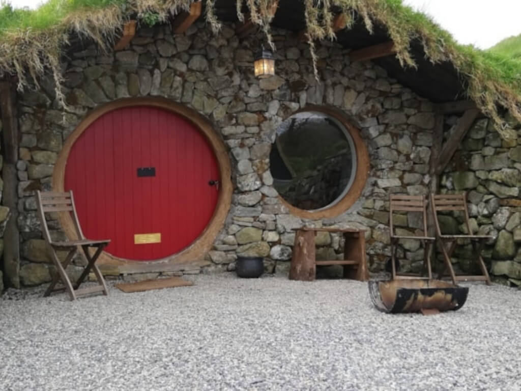 A picture of one of the Hobbit huts at Mayo Glamping, Ireland