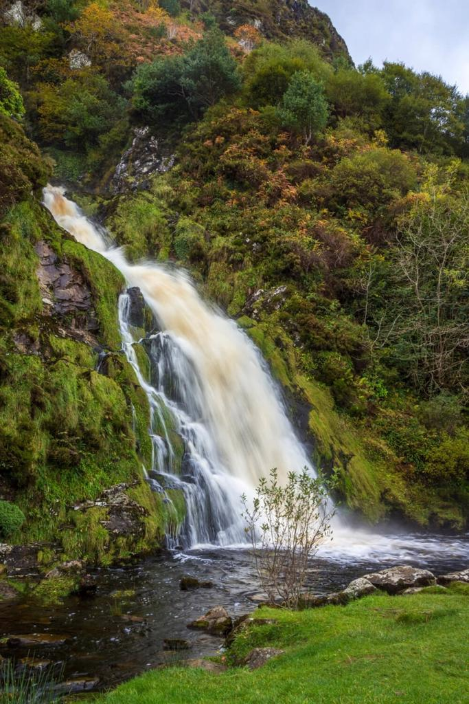 A picture of the Assaranca Waterfall, one of the best waterfalls in Ireland to visit