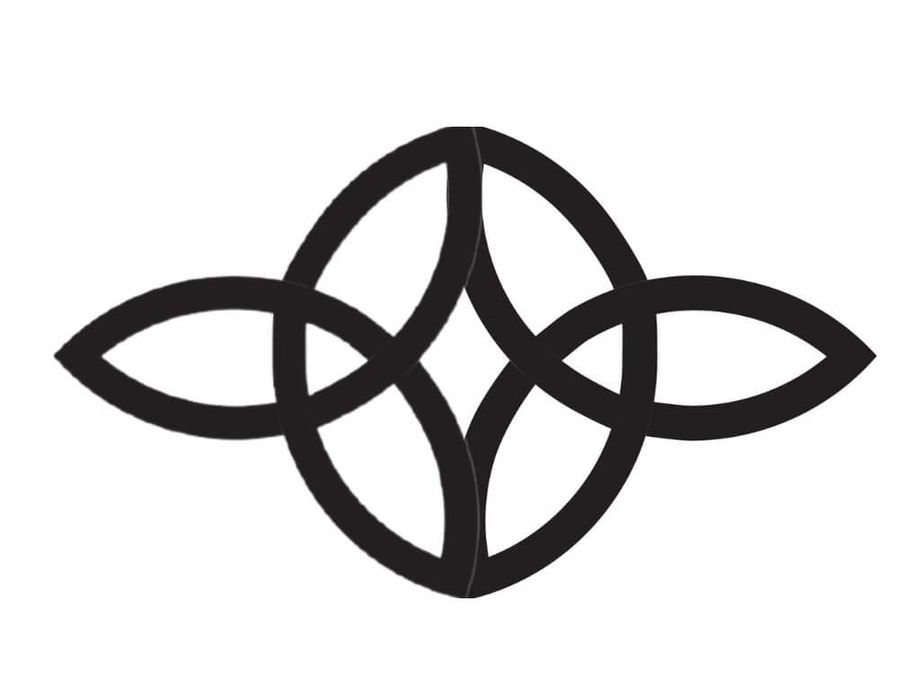 A picture of a black Celtic Serch Bythol symbol