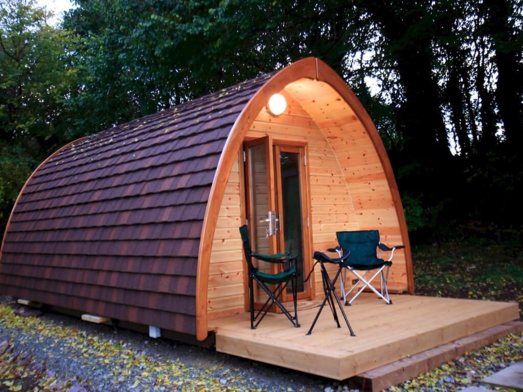A picture of the luxury glamping pod at Tig Lammax, Cork