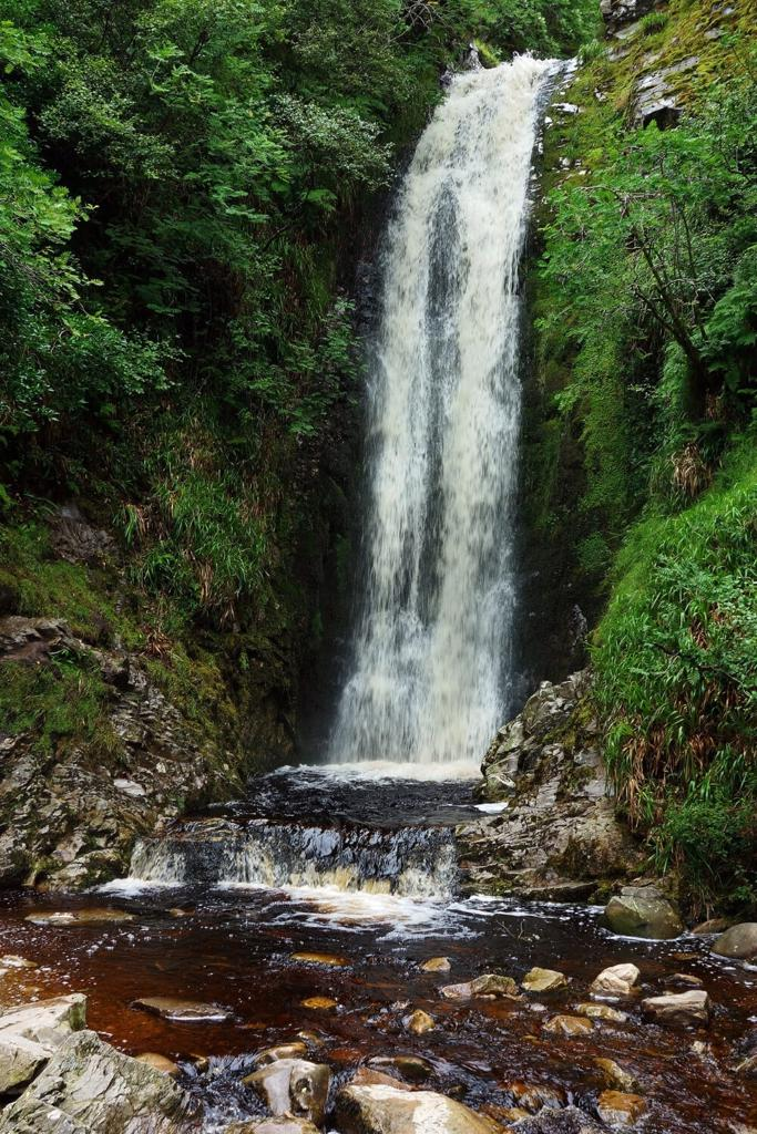 A picture of the Glenevin Waterfall in Ireland