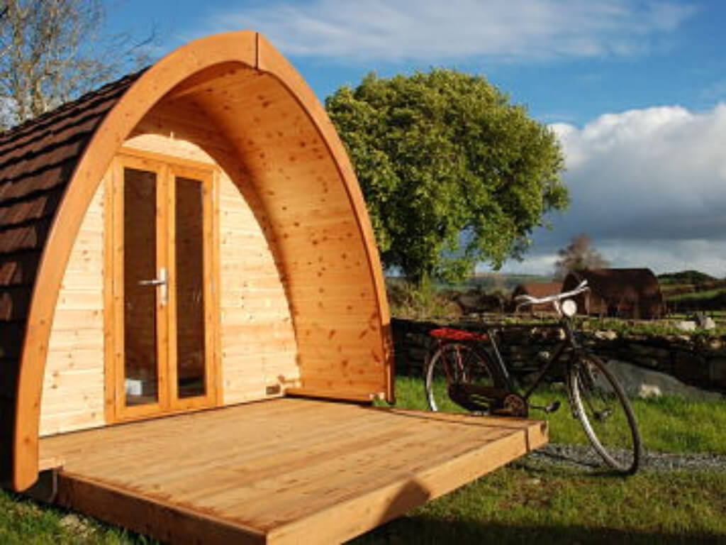 A picture of one of the pods at Top of the Rock Glamping, Cork