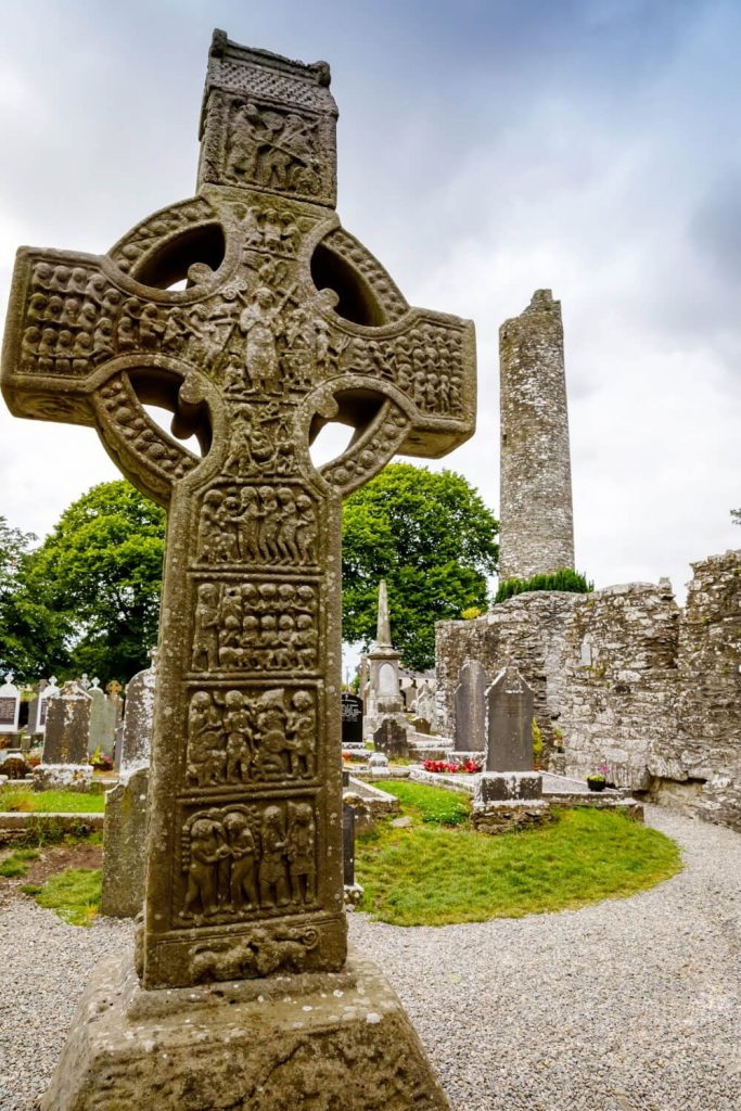 A picture of the Muiredach's Cross at the monastic site of Monasterboice, County Louth