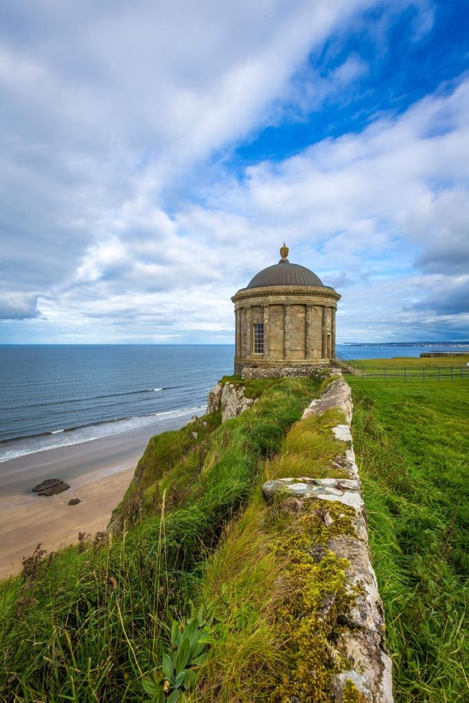 A picture of the Mussenden Temple on the Causeway Coast, one of the best things to do in Northern Ireland