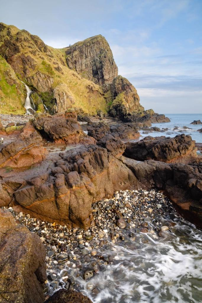 A picture of part of the Gobbins Coastal Path in Northern Ireland