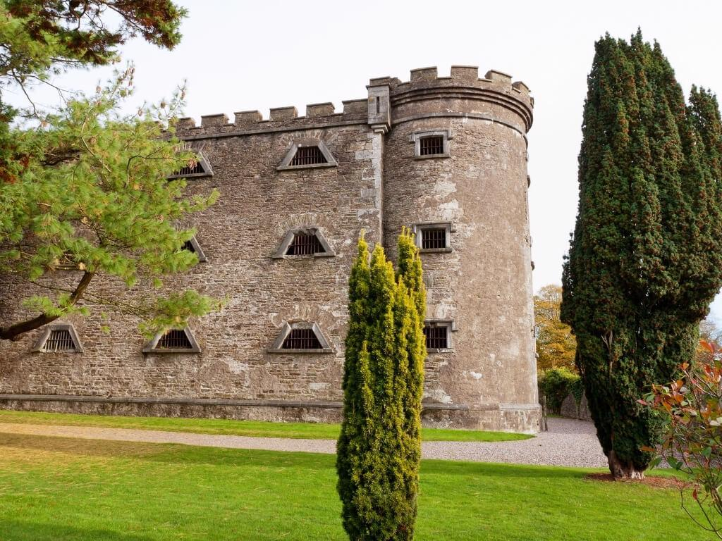 A picture of an exterior wall of the Cork City Gaol