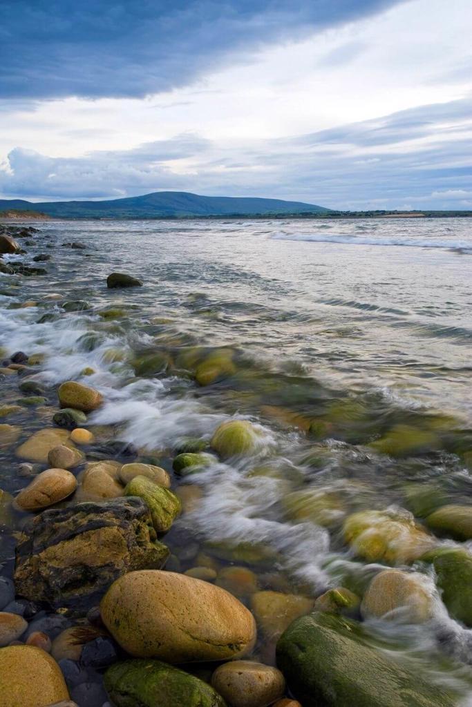 A picture of pebbles along the shore at Strandhill Beach, Sligo