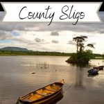 A picture of a boat on Lough Gill with text overlay saying great things to do in county sligo ireland