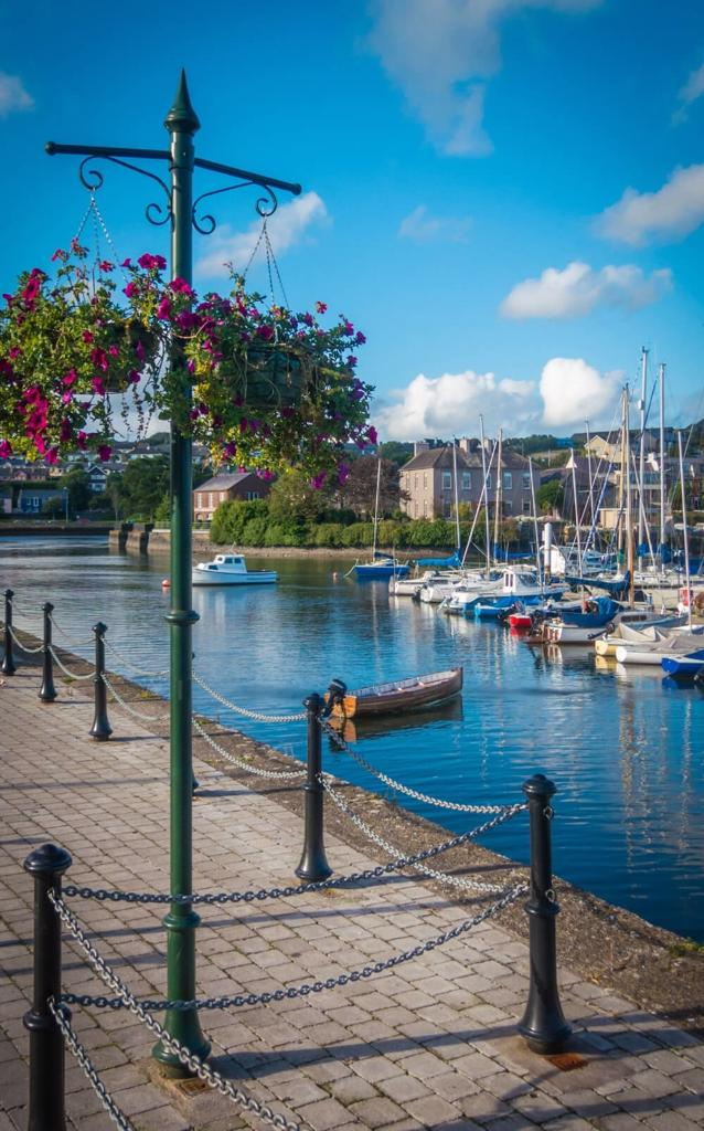 A picture of some boats in Kinsale Harbour, Cork