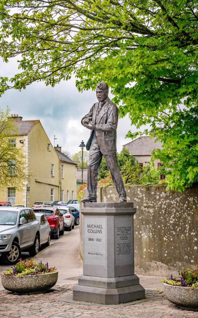 A picture of the Michael Collins Statue in Clonakilty