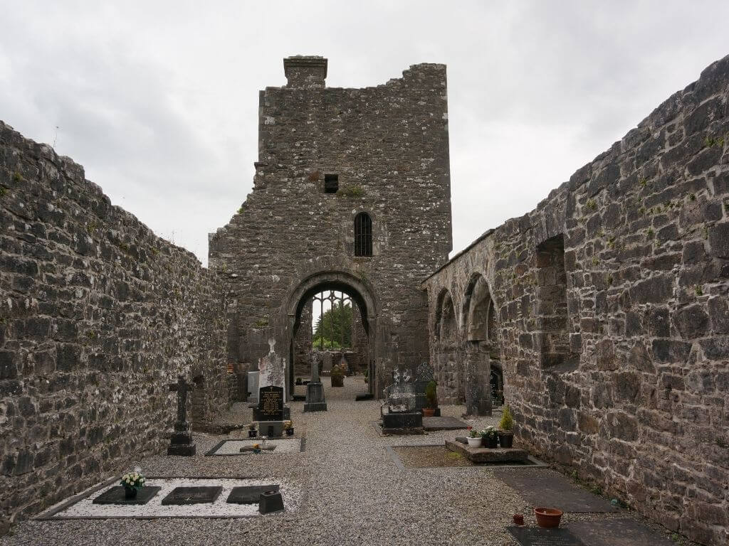 A picture of inside the ruined church of Creevelea Abbey, Leitrim