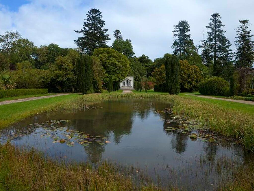 A picture of a lake in the grounds of Strokestown House and Park