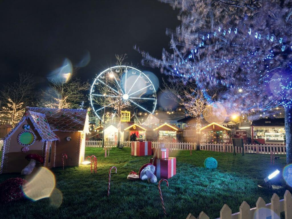 A picture of the Galway Christmas Market and Lights