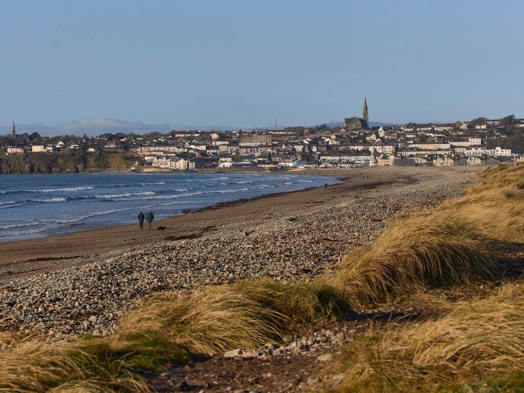 A picture across the nature reserve towards Tramore, Waterford